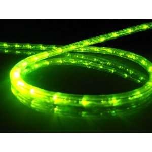 Lights; Lime Green LED Rope Light Kit; 1.0 LED Spacing; Christmas