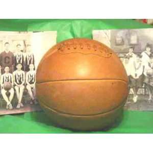 1890 1920 Antique Style Laced Leather Basketball from Past