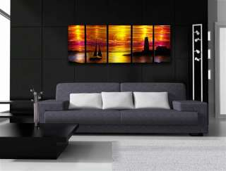 Abstract metal art Wall hanging painting sculpture Sunset scene by