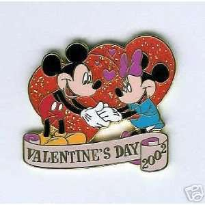 Walt Disney Mickey & Minnie Valentines Day 2002 Pin