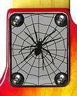 neck plate chrome 4 fender strat tele guitar spider web