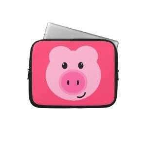 Cute Pink Pig Neoprene Laptop Sleeve Electronics