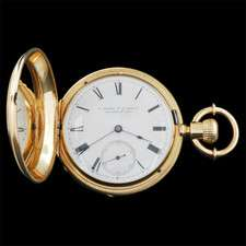 ANTIQUE 18KT SOLID GOLD POCKET WATCH 1820 E. HOWARD CO