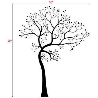 BIG Tree with Bird Wall Decal Deco Art Sticker Mural   This Decal is