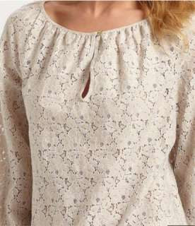 Tory Burch Rose Lace Blouse ( Size 4 )
