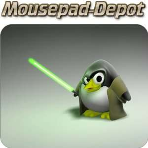 Tux the Jedi Linux Penguin Premium Quality Mousepad