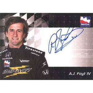A.J. Foyt IV Factory Autographed/Hand Signed 2007 Indy