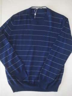 new with tags luxury blue white stripe sweater by gran