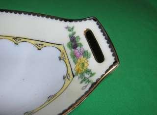 Antique Noritake China Celery Relish Tray + 6 Salt Cell