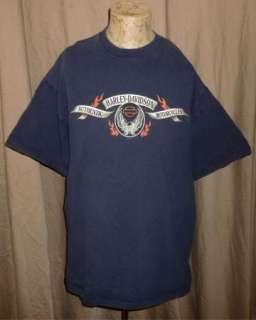 HARLEY DAVIDSON T Shirt COEUR DALENE Vtg LONE WOLF Motorcycle BIKER