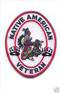 NATIVE AMERICAN VETERAN, Embroidery Patch, Harley,#572A