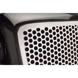 Putco Punch Main Grille Insert w/ Logo Cut Out   Stainless