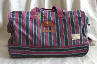 BRAND NEW AUTENTIC AMERICAN EAGLE RED NAVY STRIPED LUGGAGE BAG