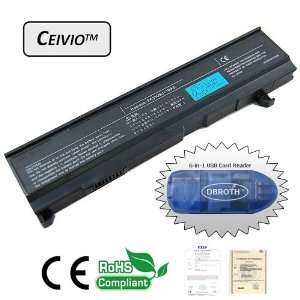 Ceivio(TM) High Capacity 4400mAH 6 Cell Li ion Laptop Battery