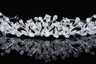 Bridal Wedding Swarovski Crystal Crown Tiara V715