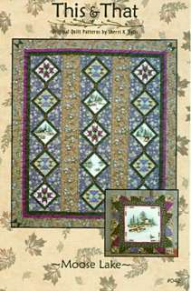 MOOSE LAKE Quilt Pattern Featuring CANOE COUNTRY Fabric
