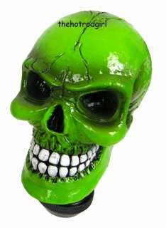 Green Skull Shift Knob for Street Rod or Hot Rod