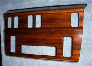 1984 96 Mercedes Benz W124 Wood Dash Climate Control Trim Panel Bezel