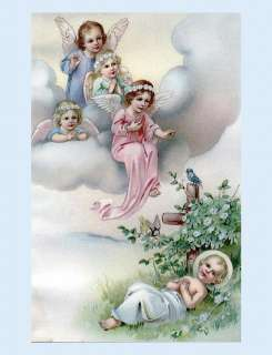 1800s child baby angels with infant baby Christ child