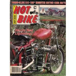 HOT BIKE MAGAZINE SEPTEMBER 1985 HARRIS RED LIGHTNING TURBO GLIDE H D