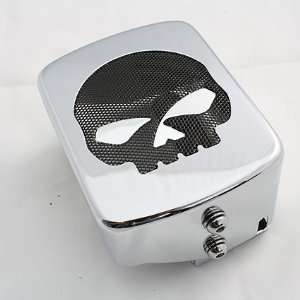 BK Rider Harley Dyna Skull Coil Cover Automotive