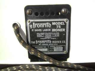 VINTAGE 1940S IRONRITE MODEL 75 MANGLE IRON PRESS TESTED KENTUCKY