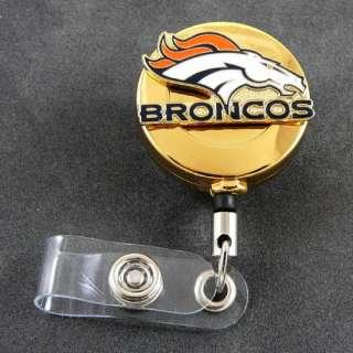 NFL Denver Broncos Retractable ID Badge Holder Reel