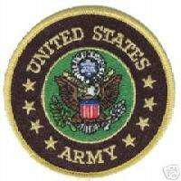 ARMY UNITED STATES ROUND BIKER VEST JACKET CLOTH PATCH