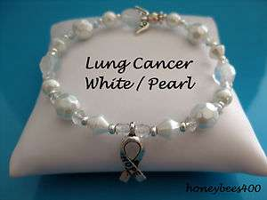 LUNG CANCER AWARENESS HOPE ANGEL BRACELET