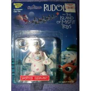 Rudolph and The Island Of Misfit Toys Spotted Elephant Ornament Clip