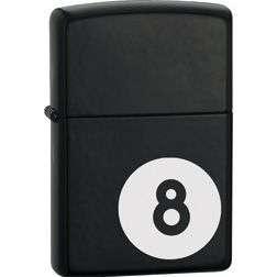 Zippo Lighters New 8 Ball Black Matte Cigarette Lighter