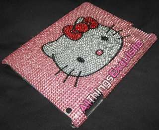 IPAD 2 CASE COVER   Pink Hello Kitty Crystal Bling