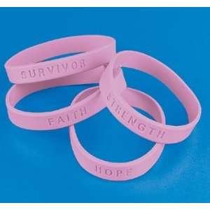 4 Breast Cancer Awareness Pink Bracelets (Receive 4 Per