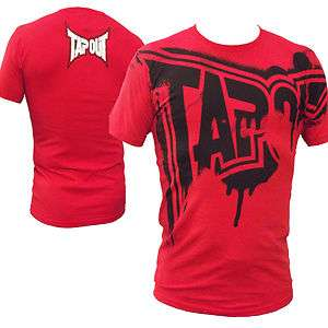 Tapout Felony UFC MMA Cage fighter Tee New Mens Rich Red Rare Colour