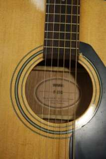 YAMAHA ACOUSTIC GUITAR   MODEL F 310   WITH CASE   GREAT CONDITION