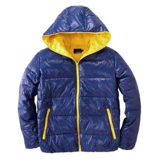 Mens Warm Winter Contrast Zipper Hooded Down Jacket 12 Colours