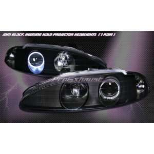 Mitsubishi Eclipse Headlights JDM Black Halo Pro Headlights 1995 1996