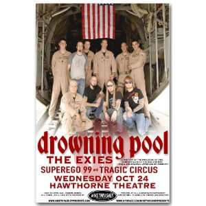 Drowning Pool Poster   Concert Flyer: Home & Kitchen