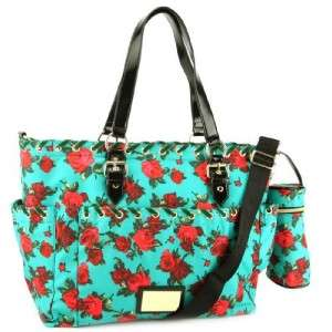 NWT Betsey Johnson TWINKLE TOES Nylon BABY DIAPER BAG TOTE