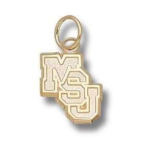 Mississippi State Bulldogs Solid 10K Gold Classic MSU Diagonal 3/8