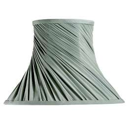 LAURA ASHLEY LIGHTING Twisted Bell Lamp Shade in Sage