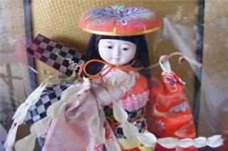 JAPANESE GEISHA GIRL PORCELAIN DOLL WITH GLASS CASE 11
