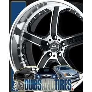 Inch 20x8.5 LORENZO wheels WL21 Matte Black Machined wheels rims
