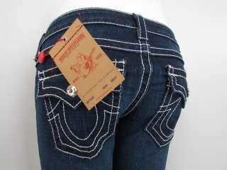 New True Religion DISCO BILLY BIG T Jeans Woman SZ 28 DK PONY EXPRESS