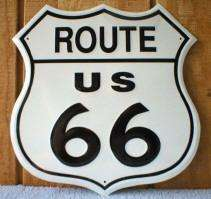 ROUTE 66 Metal Street Sign Shield Bar Road Garage