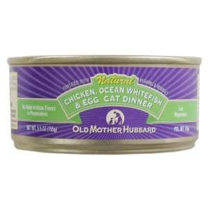 Cases of Old Mother Hubbard Chicken, Ocean Whitefish, and Egg Cat