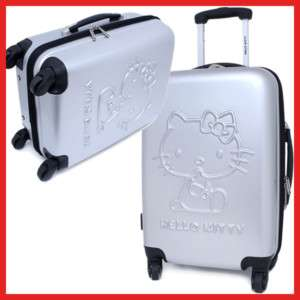 Sanrio Hello Kitty Trolley Bag Luggage Emblems Gray 20