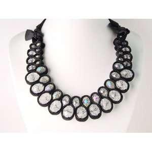 Prism Crystal Gems Weave Trendy Fashion Jewelry Necklace Jewelry