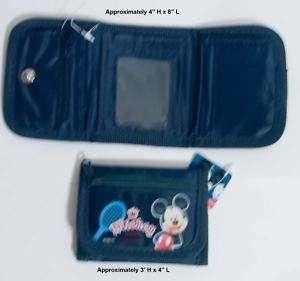 Disney Mickey Mouse Tri Fold Kids Wallet