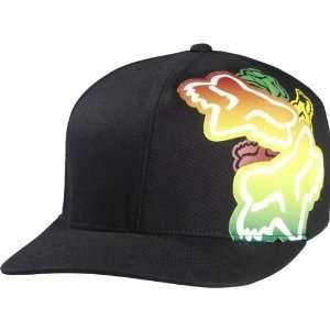 Fox Racing Slap Stick Mens Flexfit Sports Wear Hat/Cap   Black/Red